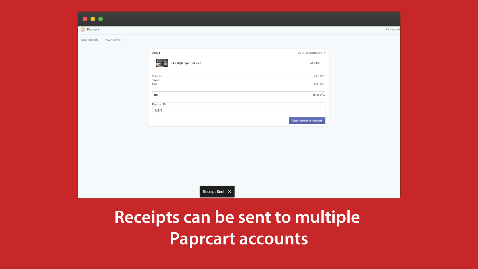 Send receipt to multiple users