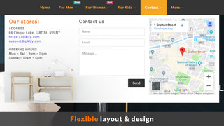 Contact forms and google maps on mega menu