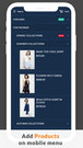 mobile mega menu compatible with Shopify themes