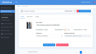 Verification before importing the product on shopify