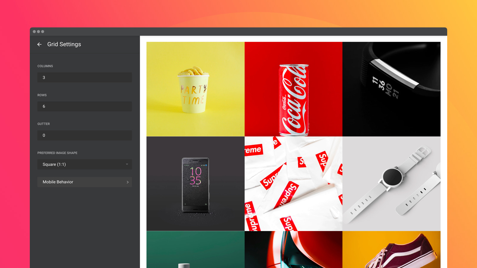 Employ various grid options and make your works eye-catching