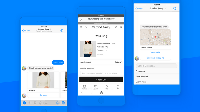 Let customers checkout and track their orders on mobile