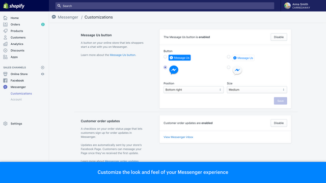 Customize the look and feel of your Messenger experience