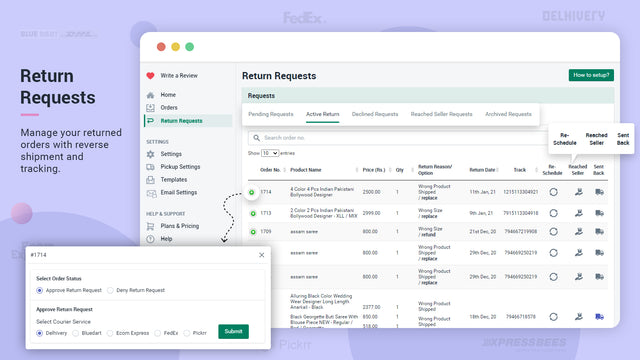 return request module with all required features