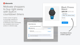 Motivate shoppers to buy with built-in countdown timers