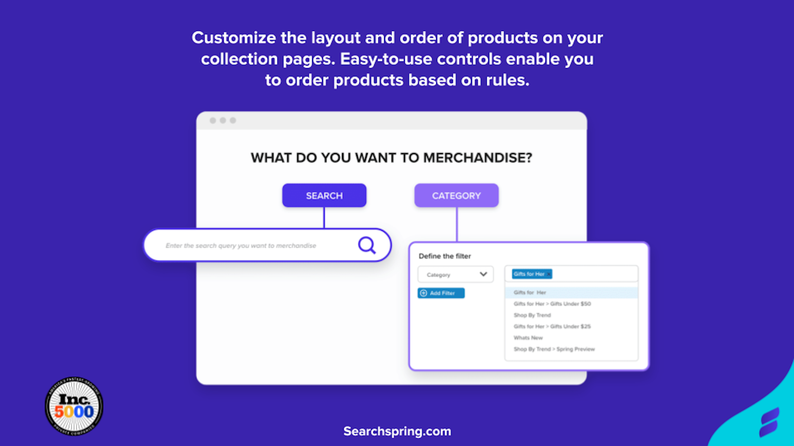 Customize the layout & order of products on search & collections