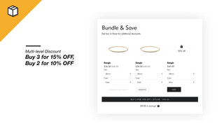 Tiered Discount Bundle (Buy 3, get 15% OFF, Buy 2, get 5% OFF)