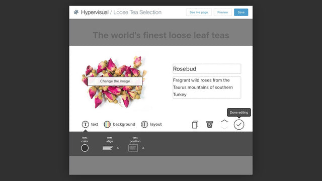 Editing a headline with Hypervisual