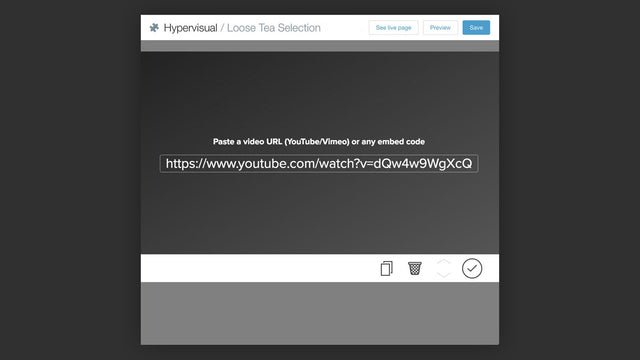 Embedding a video with Hypervisual