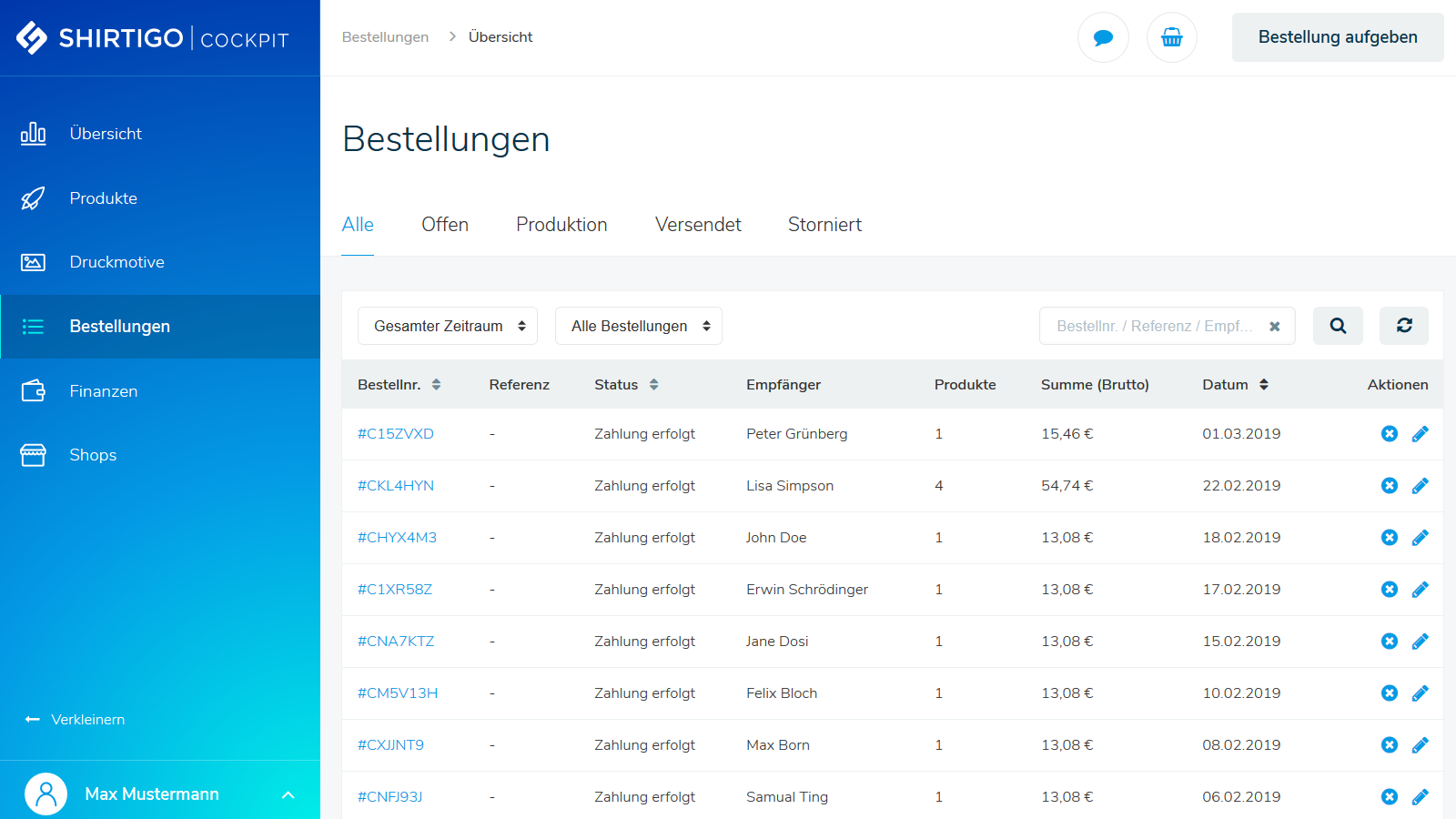 Keep track of your ordered products & their fulfillment status