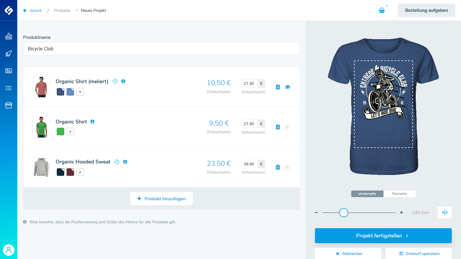 Create and sell custom shirts & products with your design!