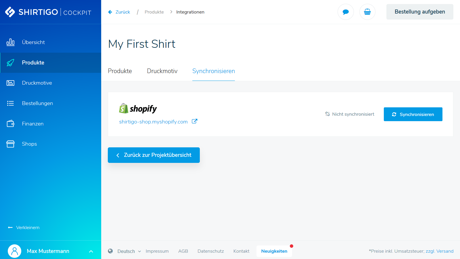 Transfer your custom products to your store with one click