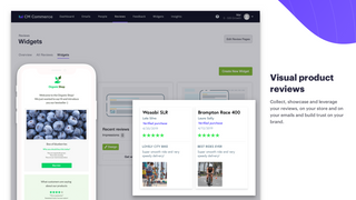 Collect and showcase your reviews in your email marketing.