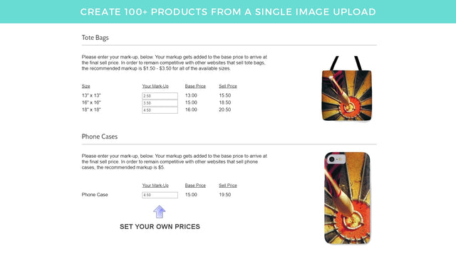 Create 100+ Print-On-Demand Products From a Single Image Upload