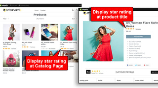 Reviews Rating at product title and catalog - Product reviews