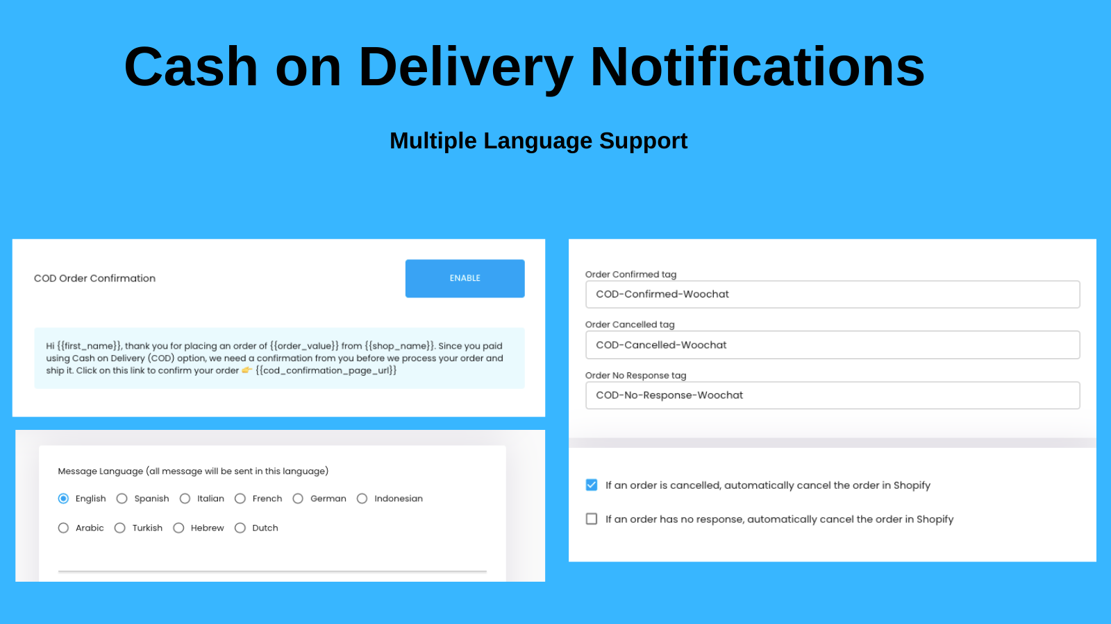 Cash on Delivery Notifications