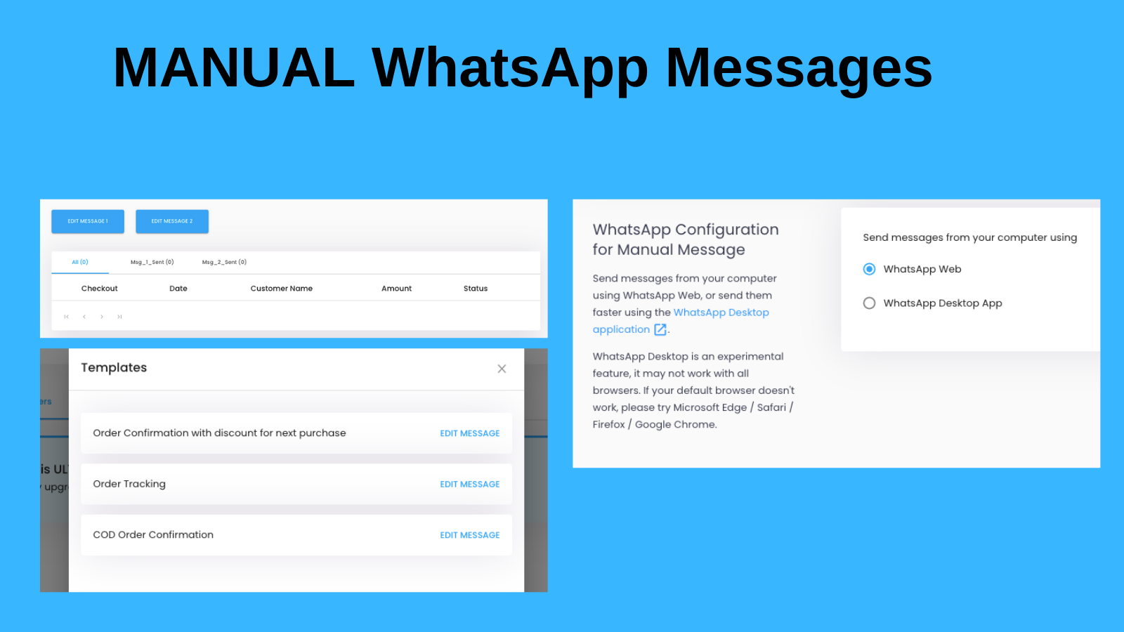 WhatsApp Manual Messages