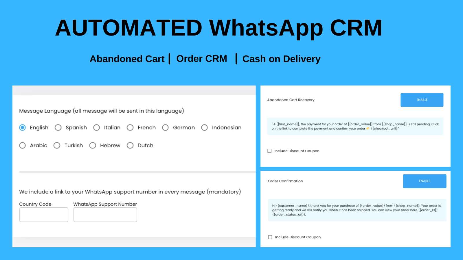 Automated Order CRM