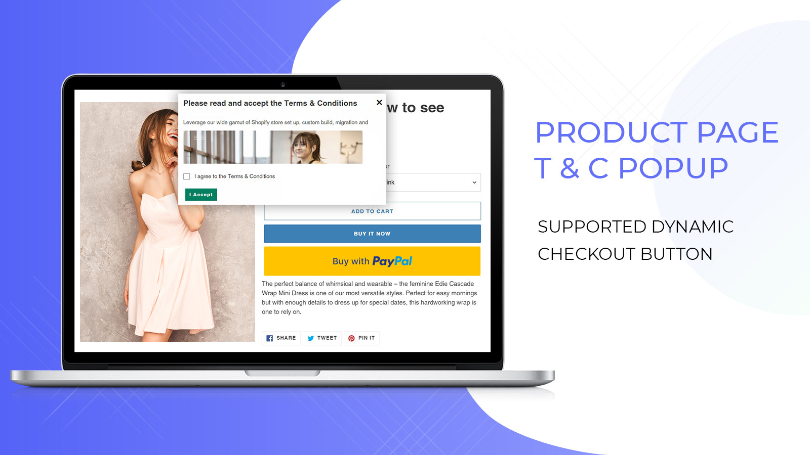 terms and conditions on shopify product page