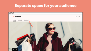 Separate space for your audience
