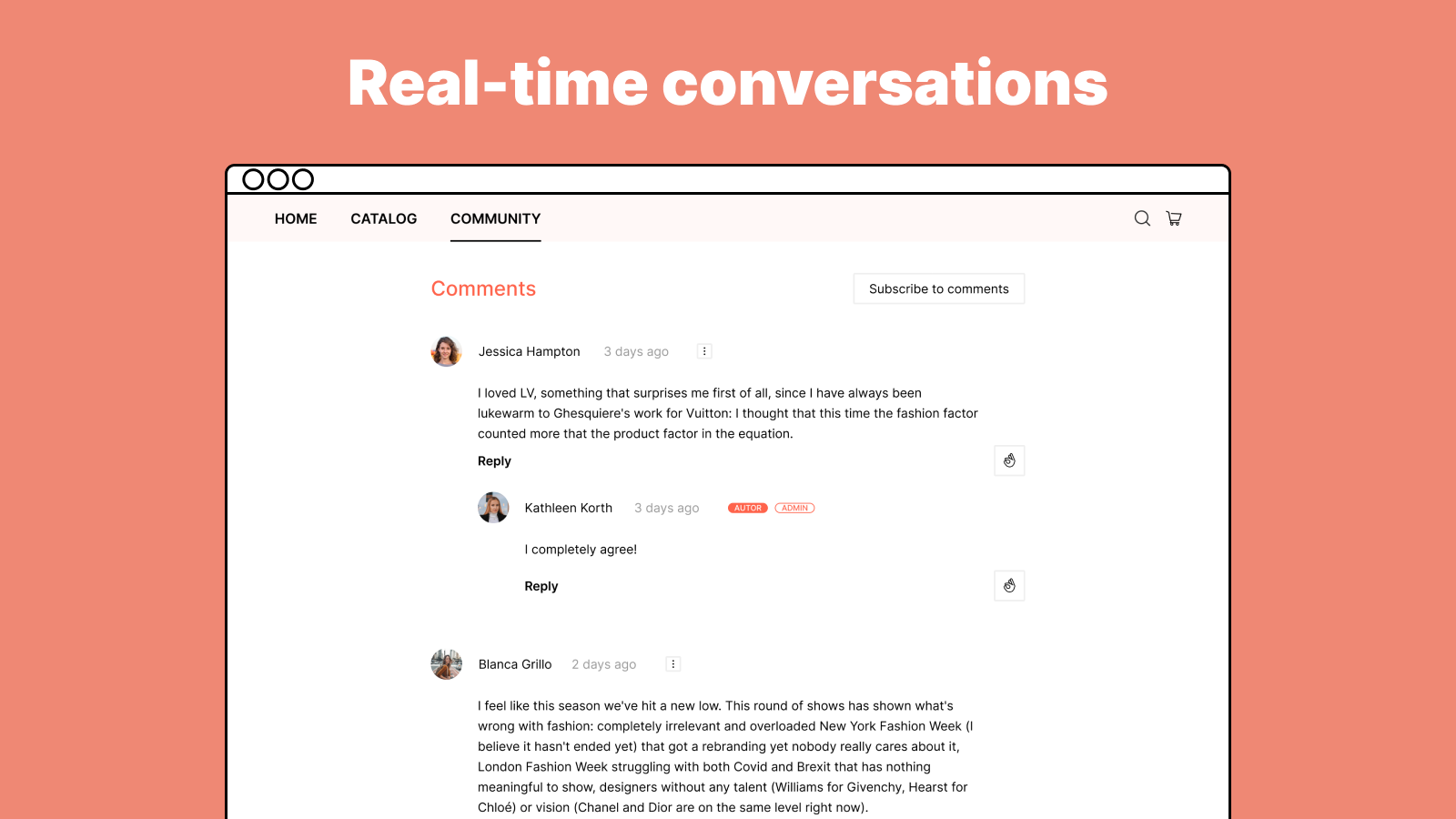 Real-time conversations