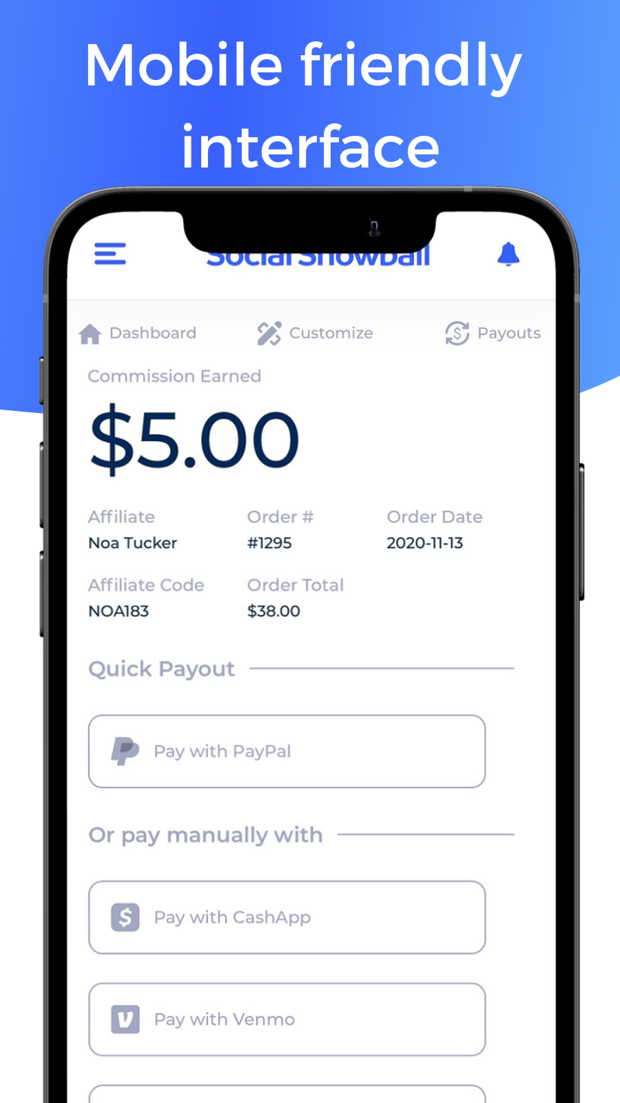 Mobile Payout
