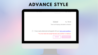 Advance style of I agree to terms checkbox - Tech Dignity