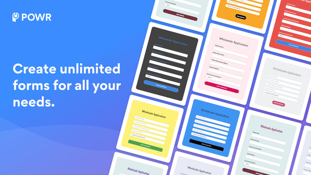 Build custom contact forms to connect with customers.