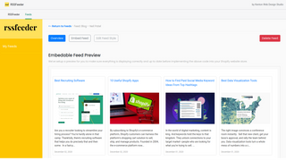 RSSFeeder Added WordPress Blog Feed Preview