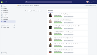 Quickly find products or variants that need barcodes