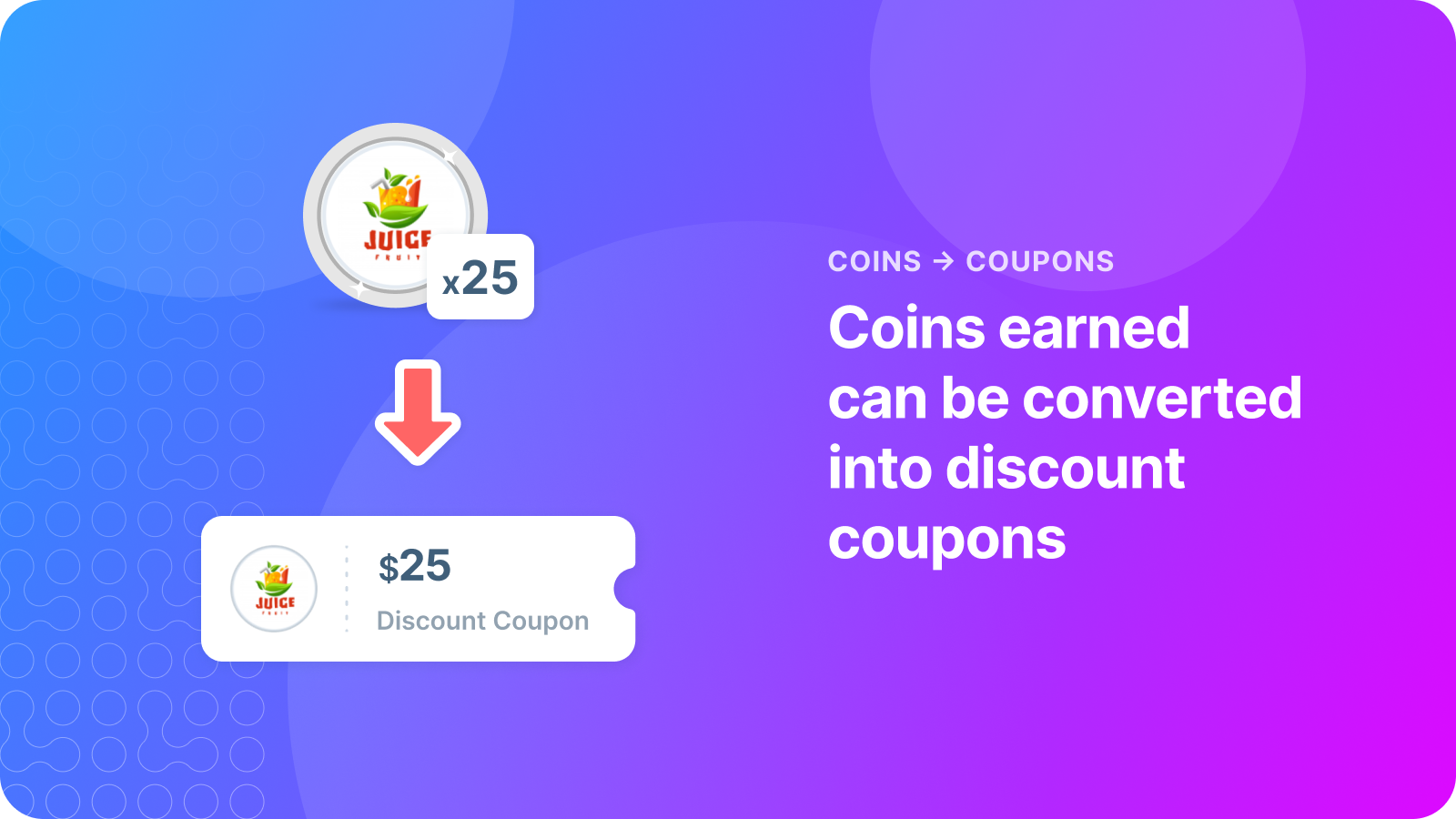 Coins earned can be converted into discount coupons