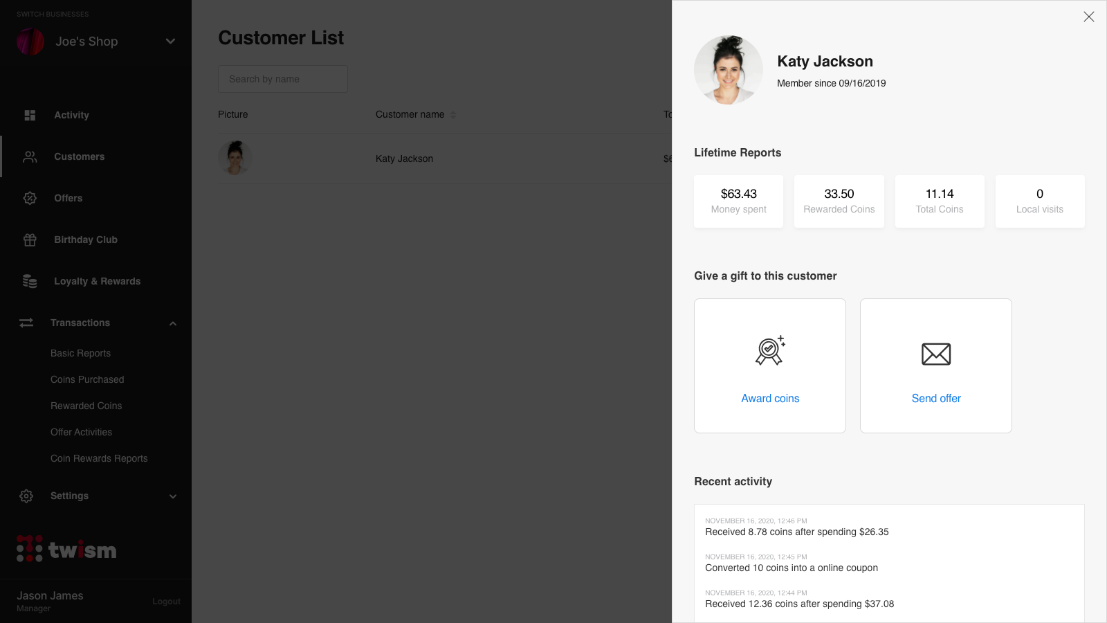 Complete profiles and reporting for every customer