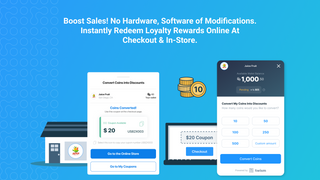 Customers easily convert coins into discounts during checkout