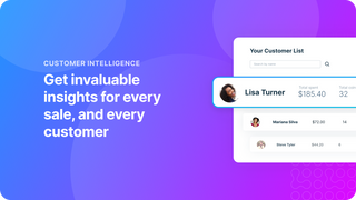 Get invaluable insights for every sale, and every customer