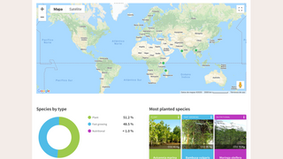 Geolocalization of trees and more planting stats