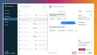An inbox view where you can view and chat with customers