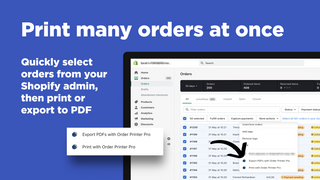 Shopify Order Printer - Print many orders at once