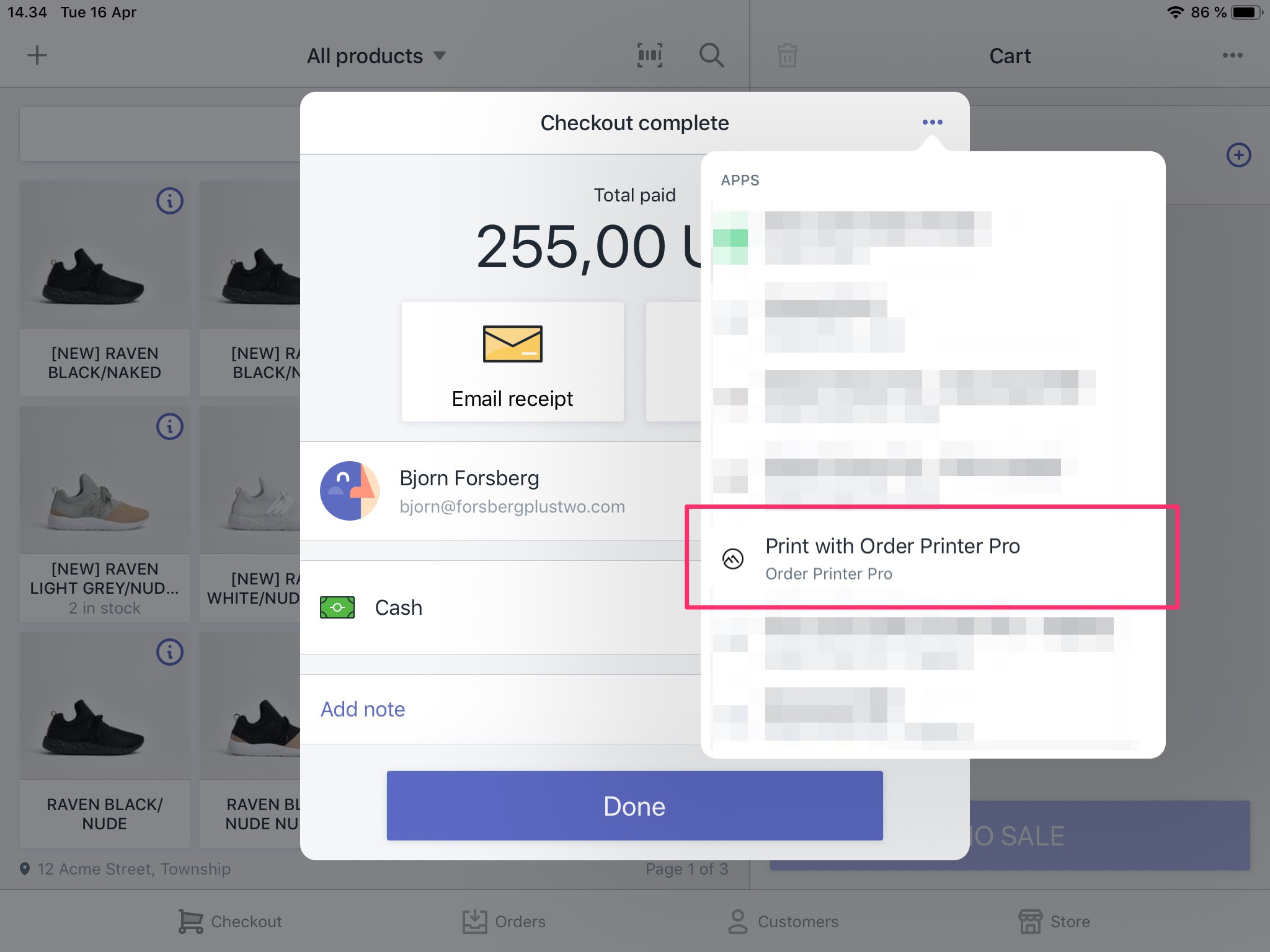 Shopify Order Printer - Printer Orders on POS (Point of Sale)