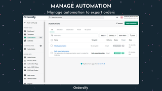 Manage automation