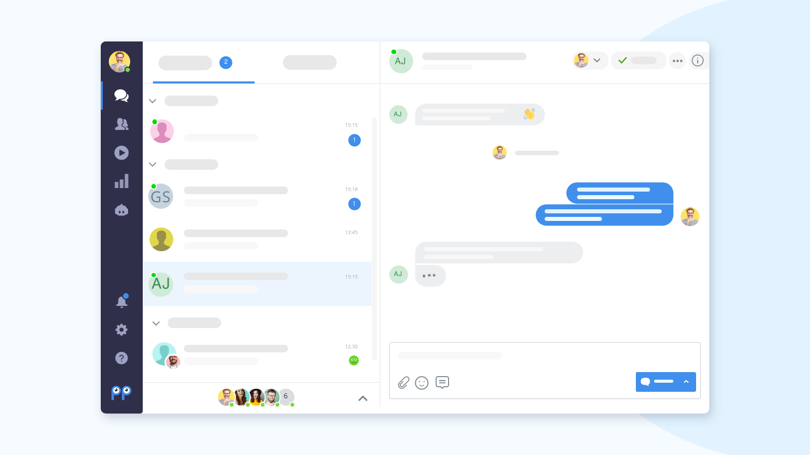 Manage incoming conversations all in one place