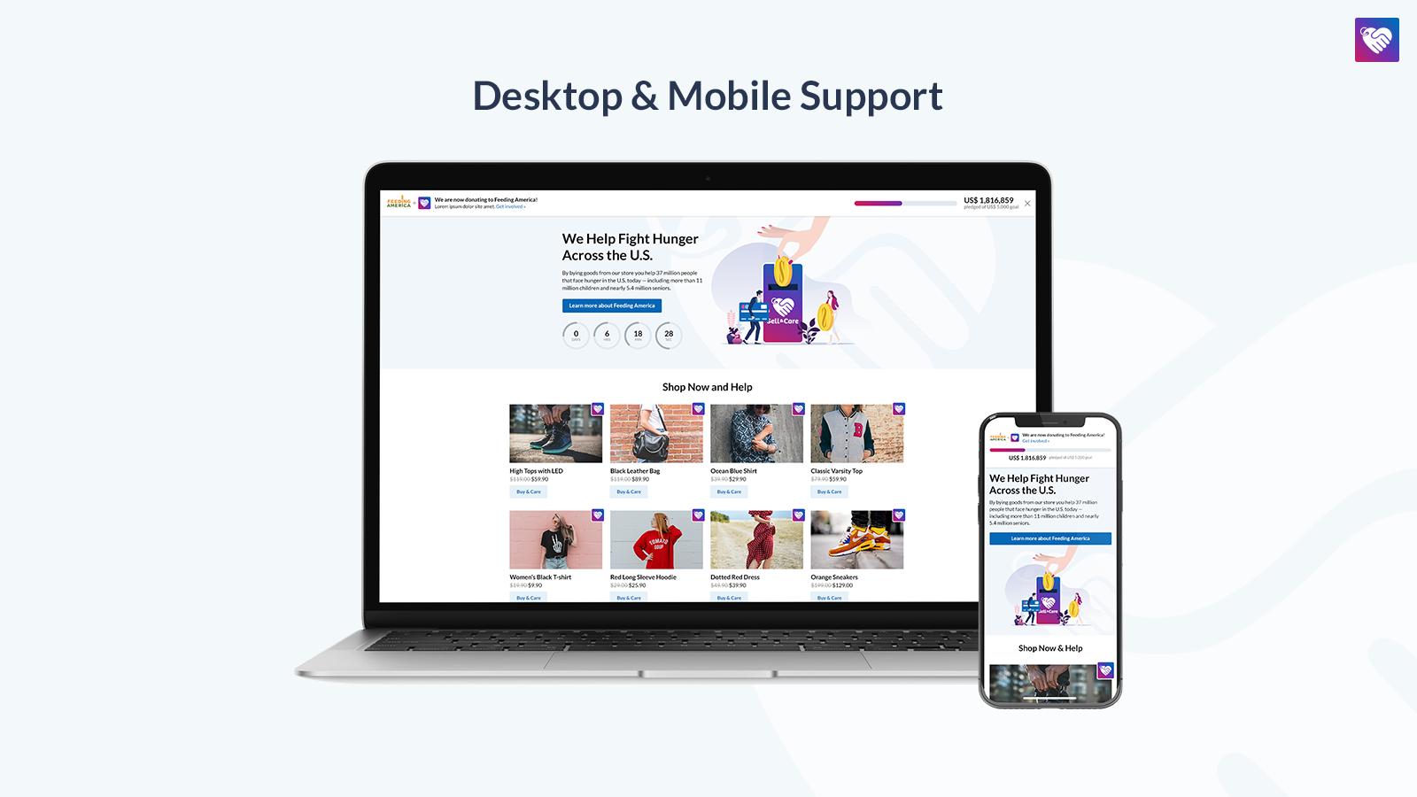 Campaign Page for Desktop and Mobile