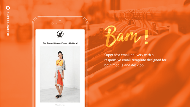 Super fast email delivery with a responsive design