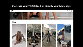 TikTok videos on homepage