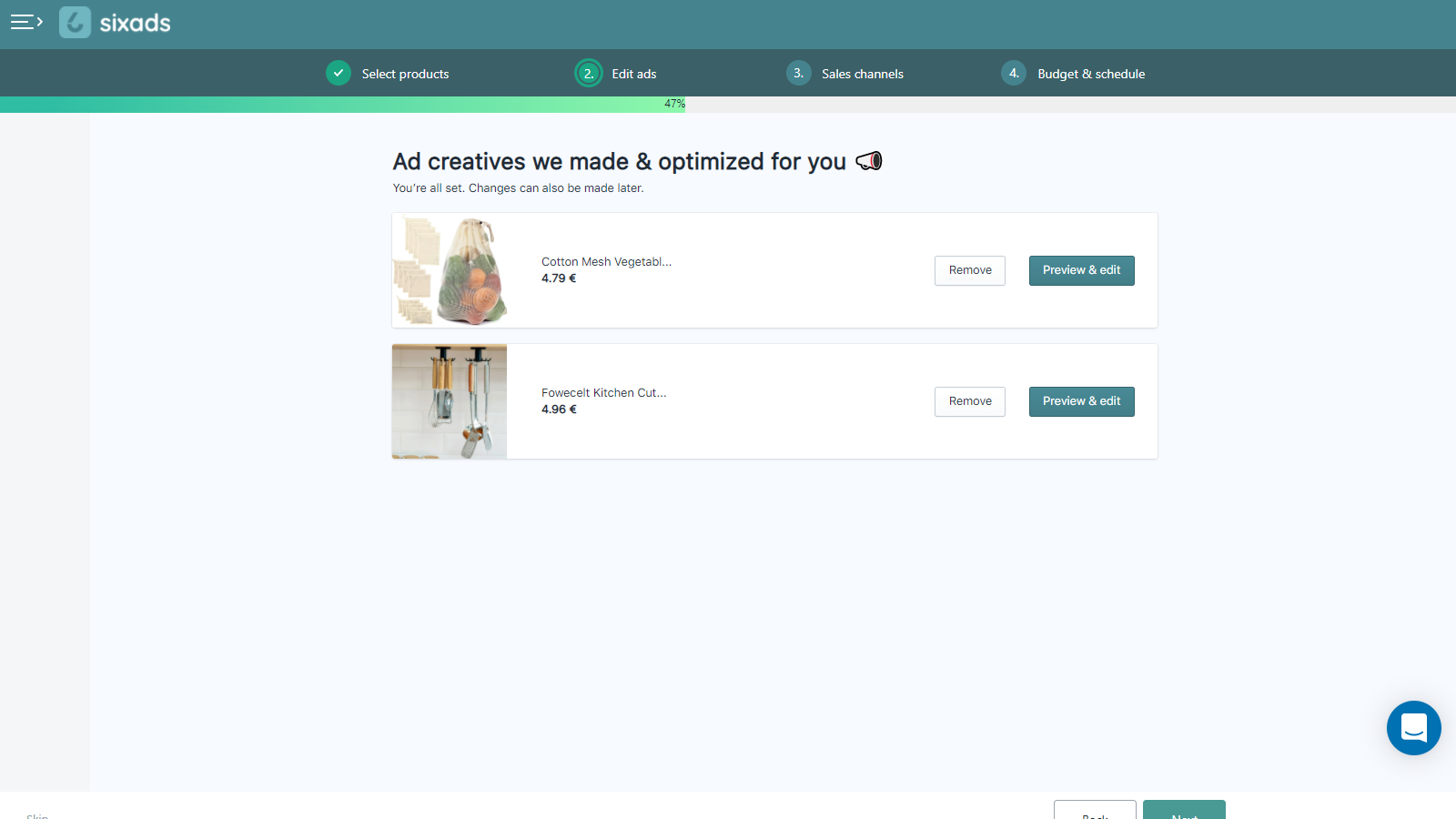 Confirm ad creatives for ads on Facebook, Instagram, Google