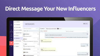 Direct message and chat with your brand influencers