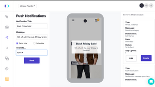 Schedule push notifications to drive conversion