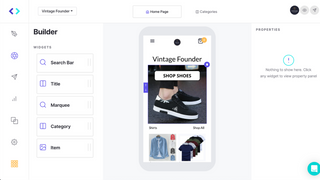 Easily drag-and-drop to design your app with the App Builder