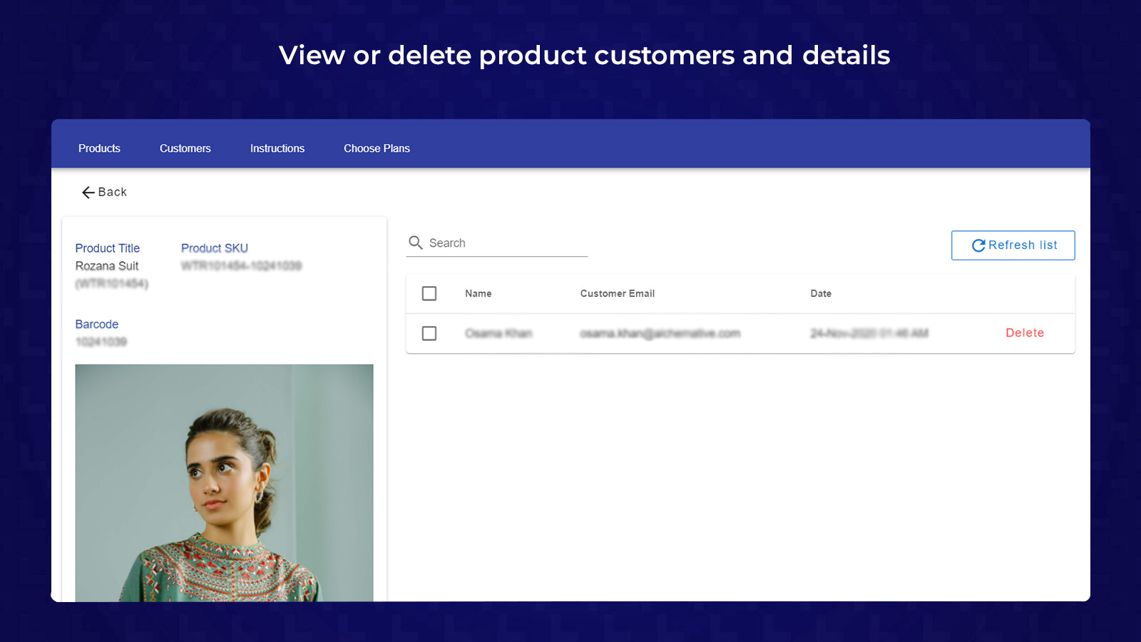 Product Detail Screen