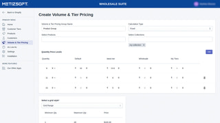 Volume & Tier Pricing