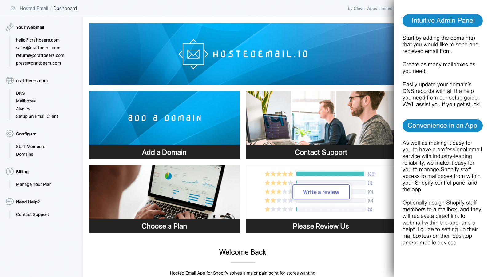 Shopify Email - Email Hosting - Mailbox Zoho - Webmail